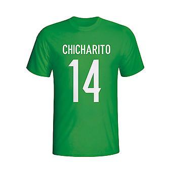 Chicharito メキシコ ヒーロー t シャツ (グリーン) - 子供