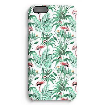 iPhone 6 Plus Full Print Fall (glänzend) - Flamingo Blätter