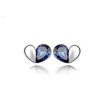 Dunkel blau Liebe Herz Gestüt Ohrringe Schmuck