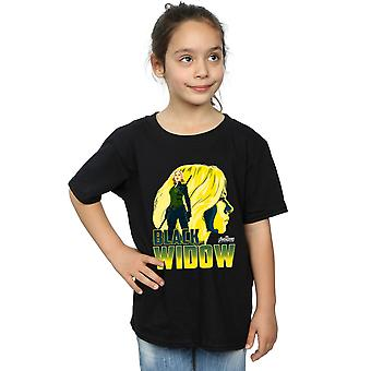 Marvel Girls Avengers Infinity War Black Widow Character T-Shirt