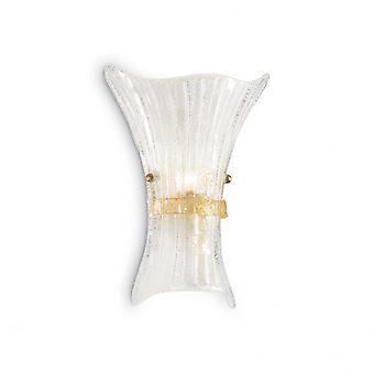 Ideal Lux Fiocco Italienisch geblasen Amber Speckle Glaswand waschen leicht, große
