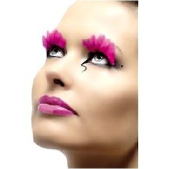 Veren wimpers - Neon Roze - bevat lijm