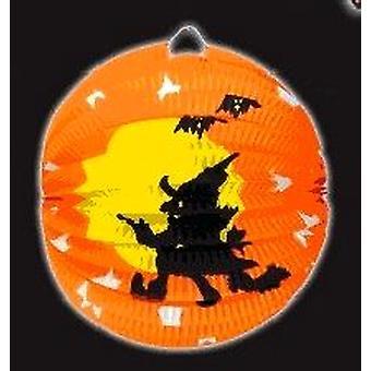 Halloween noita paperilla lyhty