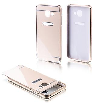 Aluminium bumper 2 pieces with cover gold for Samsung Galaxy A3 2016 A310F