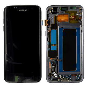 Ilmaista LCD täysin asettaa GH97 18533A musta Samsung Galaxy S7 reuna G935 G935F
