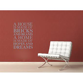 A house is made of Wall Art Sticker - Silver
