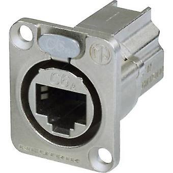 Conector de datos RJ45 etherCON D número de la serie toma, recta de pins: 8P8C NE8FDX-P6 níquel Neutrik NE8FDX-P6 1 PC