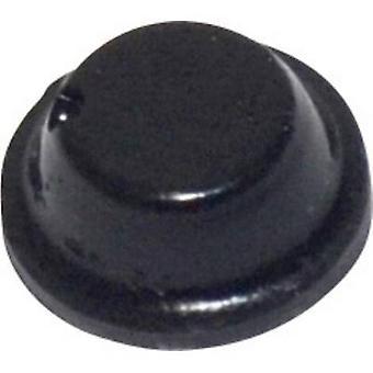 TOOLCRAFT PD2075SW foten selvklebende, sirkulære svart (Ø x H) 8 x 2,8 mm 1 eller flere PCer