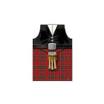 Юнион Джек носить фартук Пайпер Шотландии с Sporran дизайн
