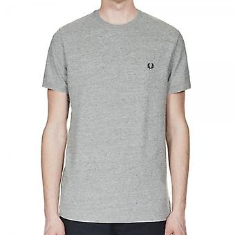 Fred Perry M3519 Ringer camiseta Vintage Acero Marl