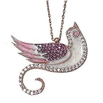 Enamel Bird necklace