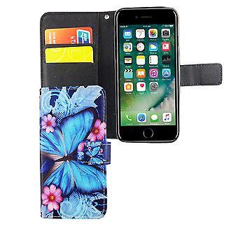 Caso malote do telefone móvel para telefone Apple iPhone 6 / 6 borboleta s azul