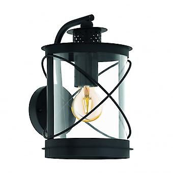 EGLO Hilburn traditionnel rond noir Lanterne murale Down Light