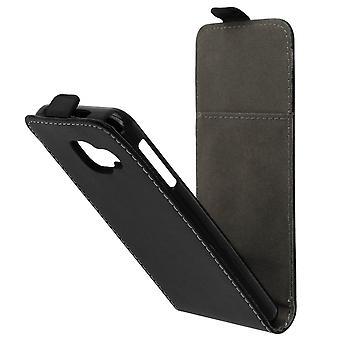 Vertical flip caso caso, sintéticos de couro para Samsung Galaxy A3 2016 - preto