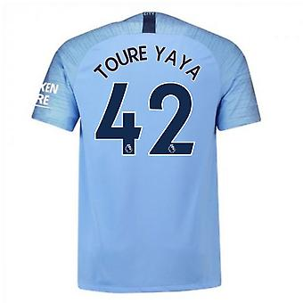2018-2019 Man City Nike Vapor Hause Match Shirt (Toure Yaya 42)