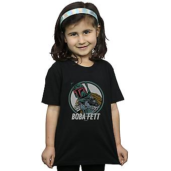 Star Wars Girls Boba Fett Retro Circle T-Shirt