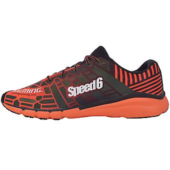 Salming Mens Speed 6 Running Outdoor Sports Shoes Trainers - Orange/Black