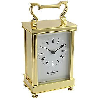 David Peterson Captains Quartz Clock - Gold