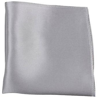 Найтсбридж Neckwear штраф шелковый карман площадь - серебро