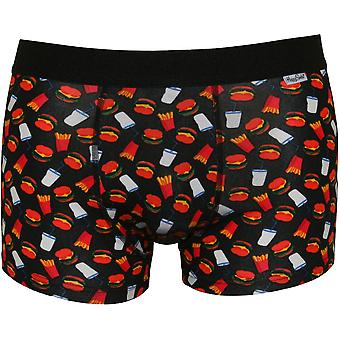 Happy Socks Hamburger & Fries Boxer Trunk, Black