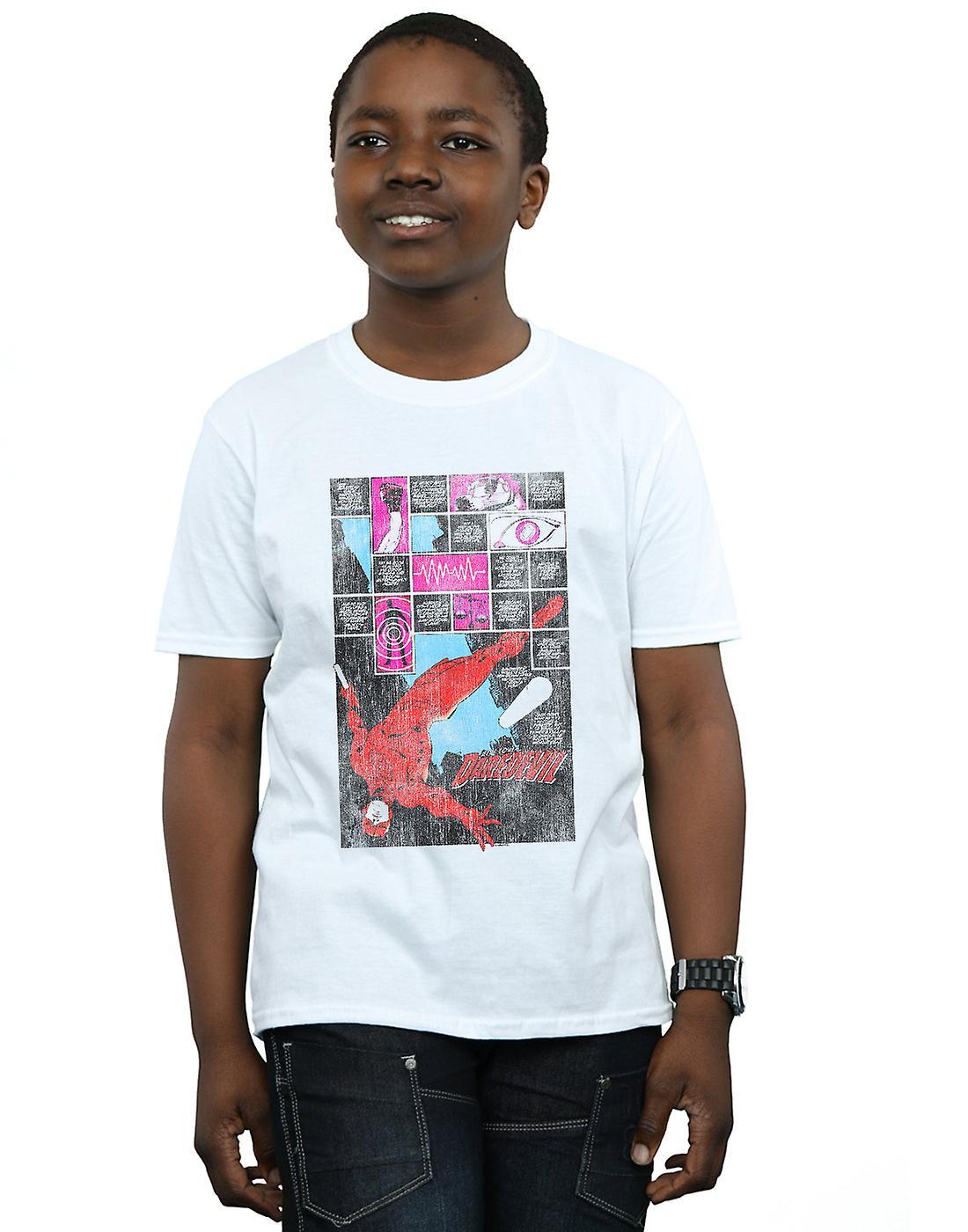 Marvel Boys Daredevil Comic Panels T-Shirt