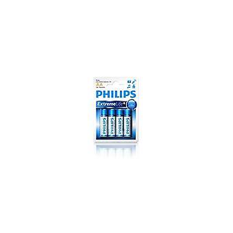 Philips LR6E4B AA Ultra Alkaline Batterie 4 PCs