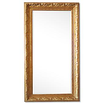 Large mirror in gold France motif, outer dimensions 56x106 cm