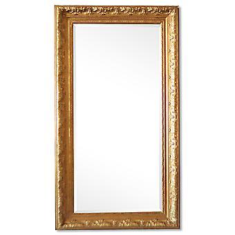 Stor spegel i guld Frankrike motiv, yttermått 56x106 cm