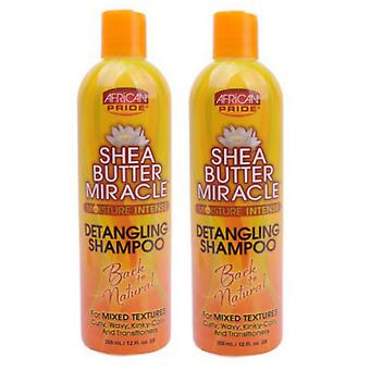 African Pride Shea Butter Miracle Shampoo 355ml (2-Pack)