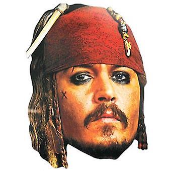 الكابتن جاك سبارو بطاقة يتوهم قناع اللباس (جوني ديب)