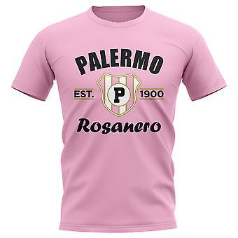أنشأ باليرمو لكرة القدم تي شيرت (وردي)
