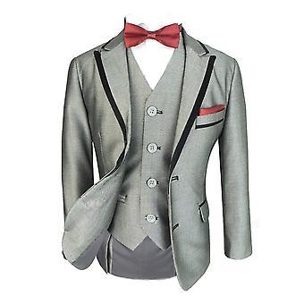 Exclusive de garçons Slim Fit Tuxedo gris léger dîner costume par Romano