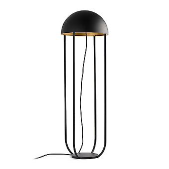 Faro - Jellyfish Black And Gold LED Floor Lamp FARO24521