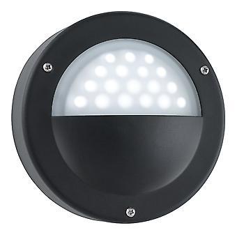 Svart utendørs hage LED Wall Light - søkelys 8744BK