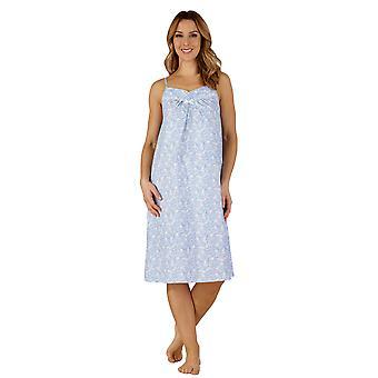 Slenderella ND3210 kvinners bomull vevd natt kjole Loungewear Nightdress