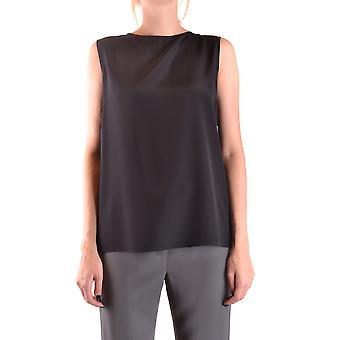 Aspesi Ezbc067085 Women's Black Silk Top