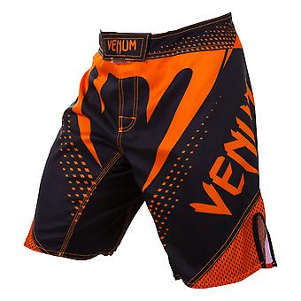 Venum Mens orkaan MMA Training strijd Shorts - zwart/Neo oranje