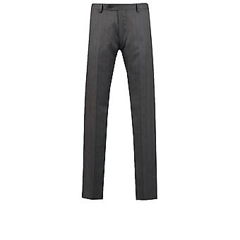 Dobell miesten Charcoal Prince of Wales Tarkista puku housut Slim Fit