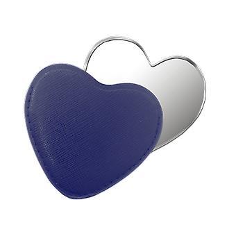 Niebieskie serce kompaktowy lustro