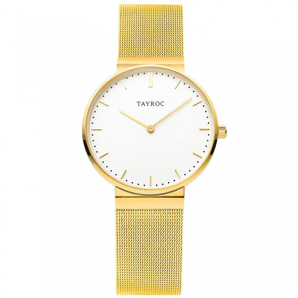 Tayroc Ty141 Gold & White Stainless Steel Men's Watch