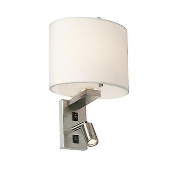 Elstead-2 luz de pared ligera-acabado en níquel cepillado-BELMONT/2W