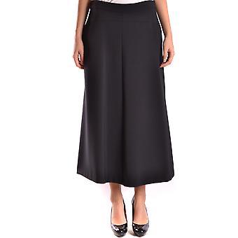 Liviana Conti Ezbc261024 Women's Black Viscose Skirt