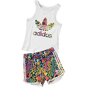 Adidas Originals Infant flickor Trefoil Tank och Shorts Set - AI9998
