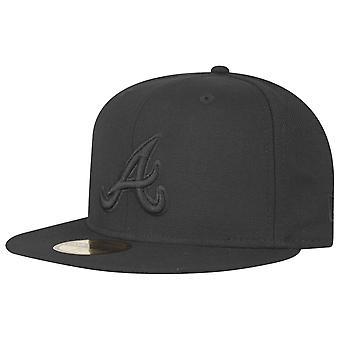New Era 59Fifty Cap-MLB zwart op BLACK Atlanta Braves
