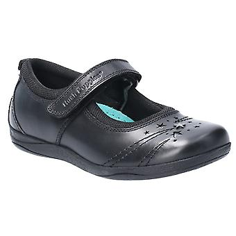 Hush Puppies Girls Amber School Shoes Black F Fitting