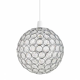 Ceiling Pendant Light Chrome, Clear Acrylic