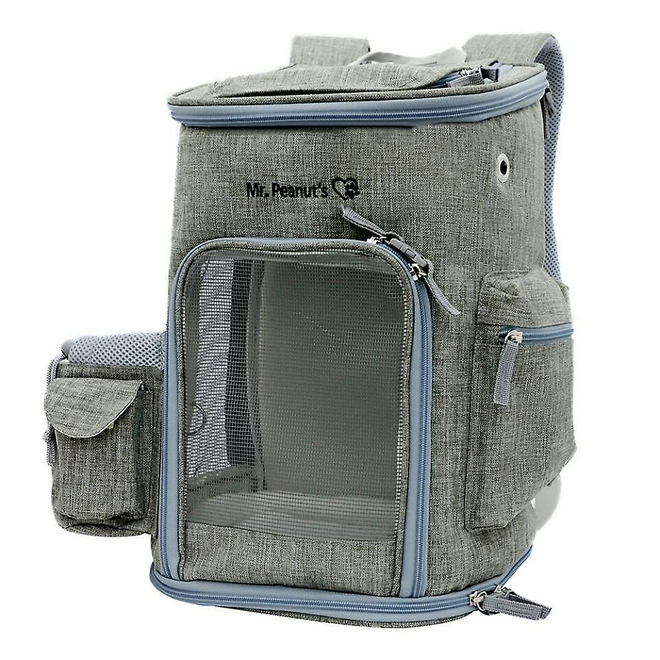 Mr. peanut's original backpack pet carrier for smaller cats and dogs