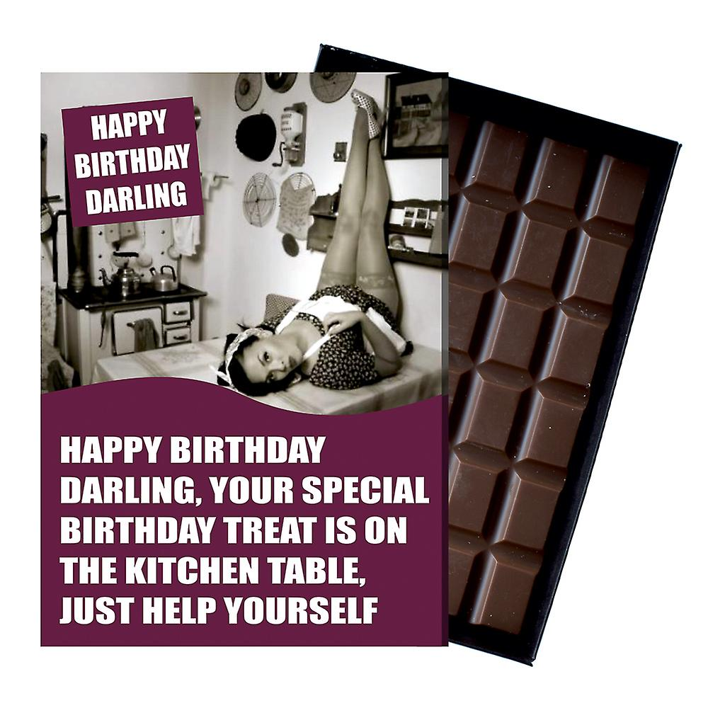 Funny Birthday Gift For Husband Boyfriend or Men boxed Chocolate Greeting Card Present CDL232