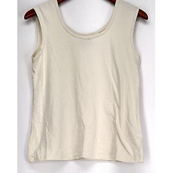 Curations Top Sleeveless Scoop Neck Stone Beige Womens 473-375