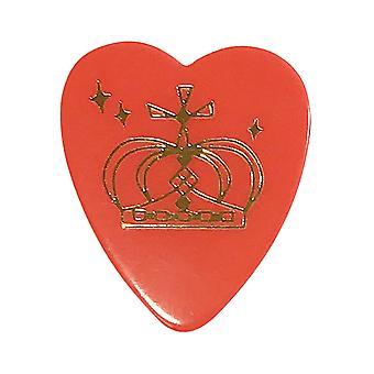 6 Pickboy Angel Rocks Guitar Picks/Plectrums - Red Gold Crown - Medium 0.75mm